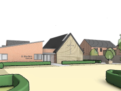 Sketch of proposed view from Broadway entrance Pic: Paddock Johnson Partnership