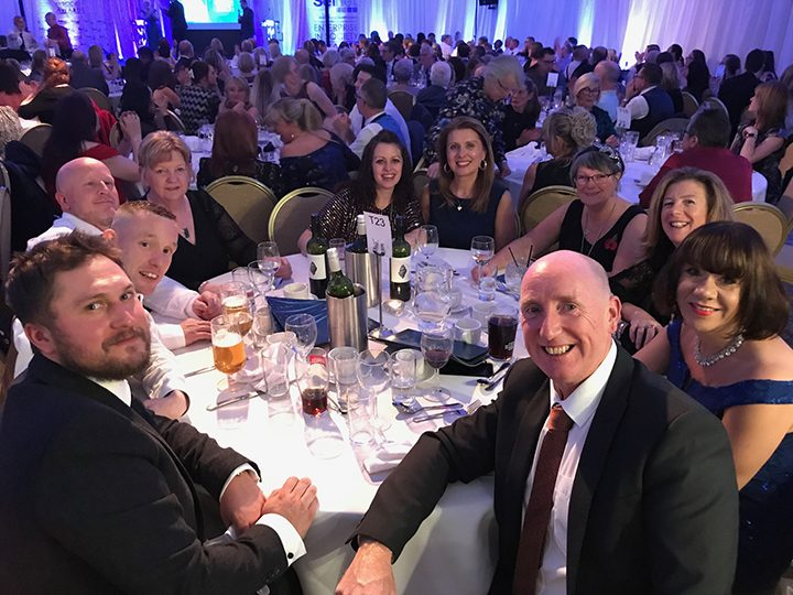 The PVC team at the 2019 Selnet Enterprise in Society awards