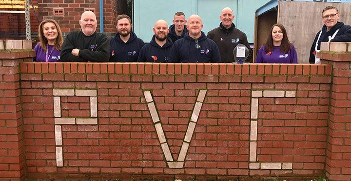 The PVC team at their Preston base