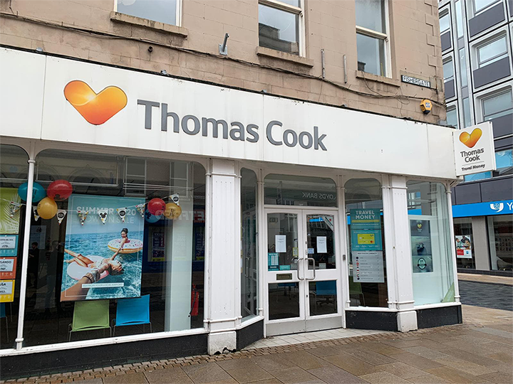 Thomas Cook in Fishergate after its closure Pic: Jack Dinsley