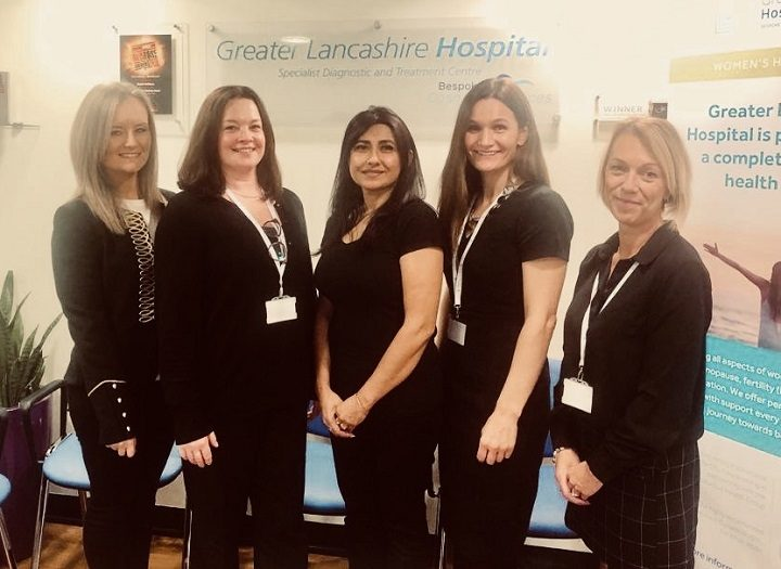 L-R: Sara Rajiah, Clare Holding, Simi Wilton, Caroline Lane, Shelley Welsh from the Greater Lancashire Hospital