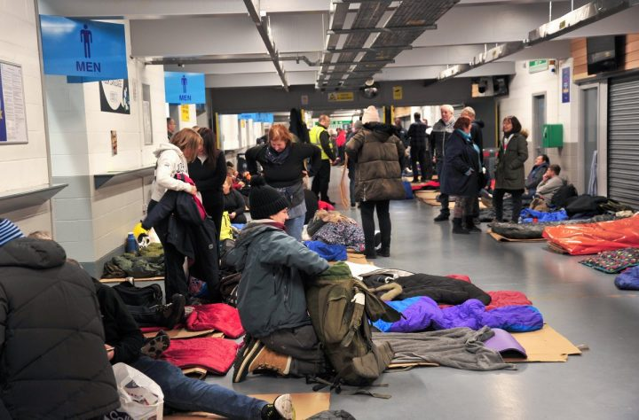 Bedding down at the Big PNE Sleep Out Pic: Donna Clifford