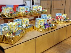 The hampers for Noor Foodbank