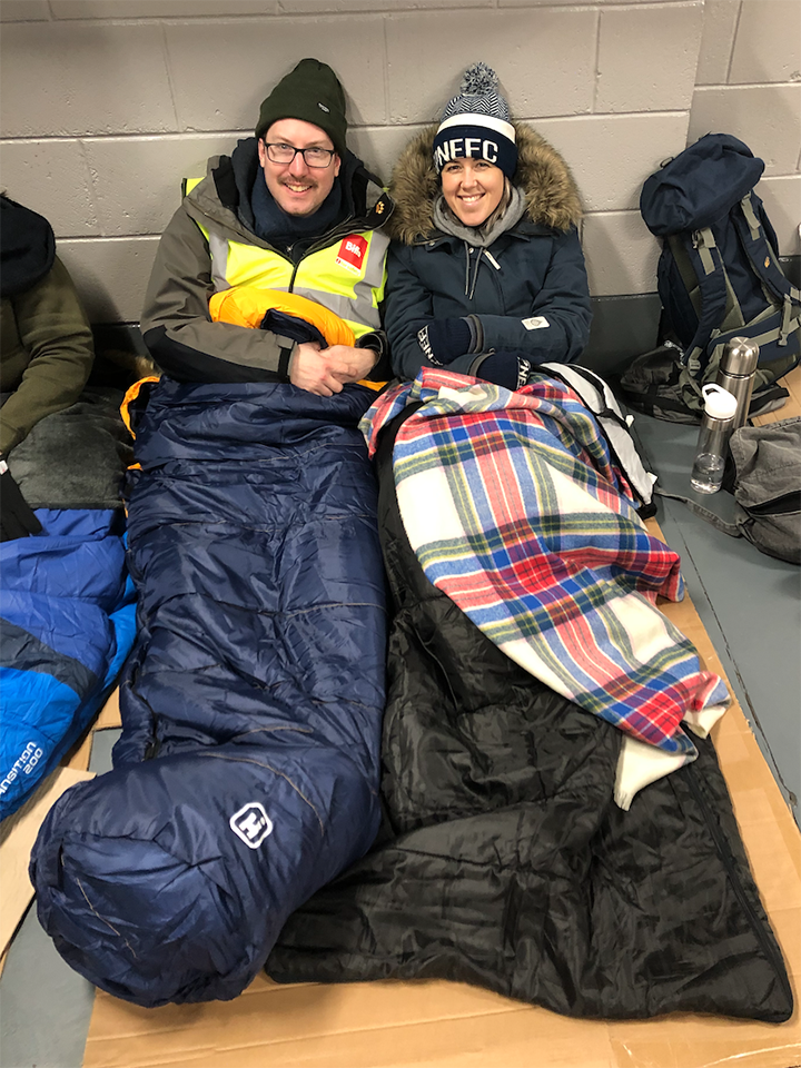 Ed and Kate at the Big PNE Sleep Out