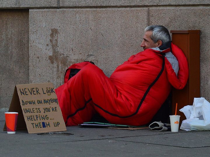 Homeless man Pic Quinn Kampschroer from Pixabay