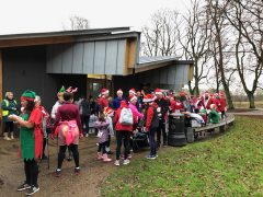 Participants at the Cheeky Santa Dash 2019