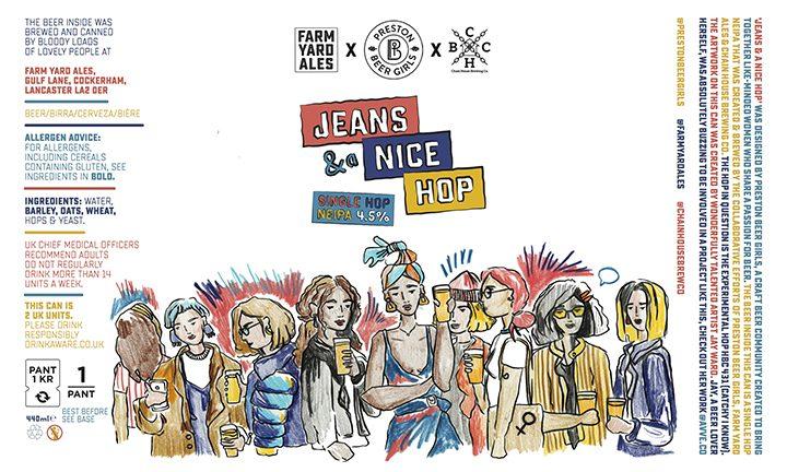 Le jean et un joli houblon peuvent concevoir