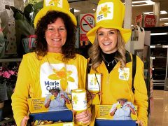 Marie Curie Community Fundraiser for Preston, Lucy Styles (right) with a volunteer