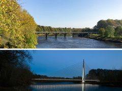 Old Tram Bridge - before and after the plans