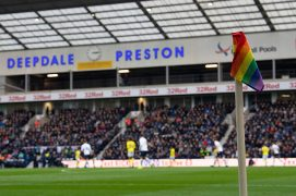 Rainbow corner flags will be used at the West From fixture Pic: Ian Robinson/Preston North End