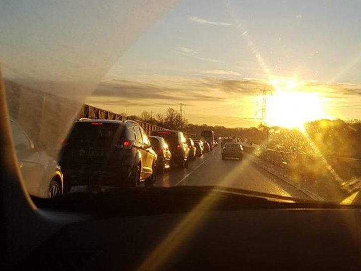 Traffic on Golden Way Pic: David Southworth