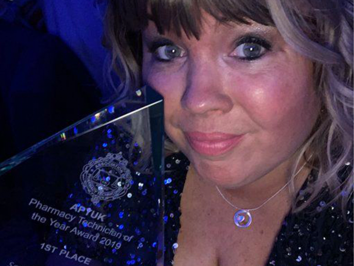 Sarah Green at Awards Ceremony