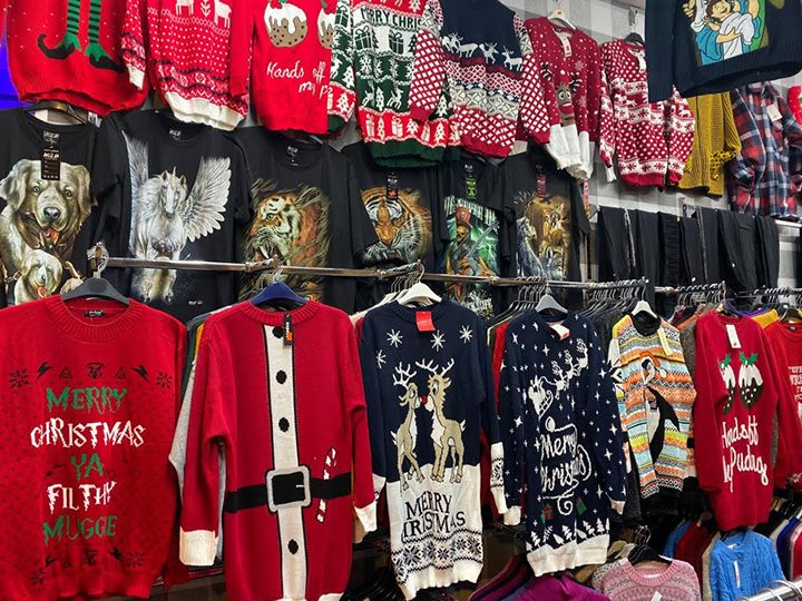 A wide range of Christmas jumpers are in stock at Sol's Fashions