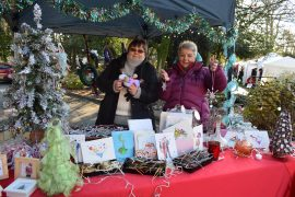 Festive stalls selling local products.