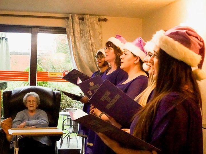 The choir performing at Laurel Villas