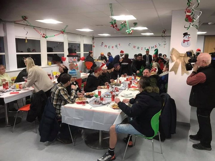 The Christmas dinner at the EFL offices in Fishergate Hill
