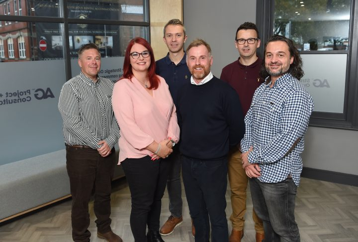 Pictured left to right Anderton Gables senior management team: John MacMillan, Kirsty Robinson, Andrew Whittle, Jonathan Shaw, Tom Hargreaves, and Stuart Carter.