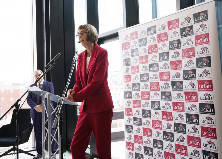Dame Sue Ion speaking at the opening of the EIC. Pic: University of Central Lancashire