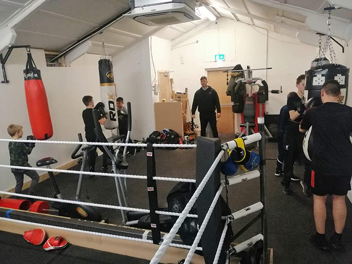 Youngsters training in the renovated space Pic: Penwortham Boxing Club