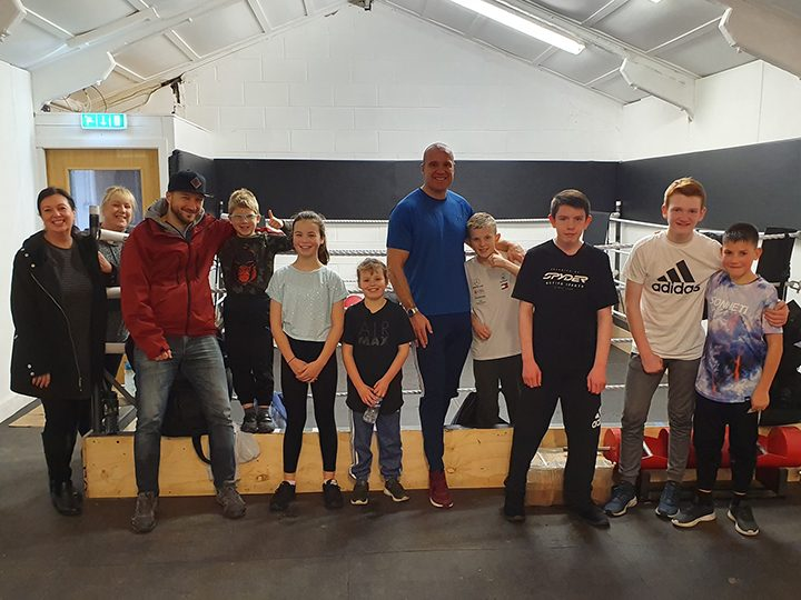 Parents and kids at the club Pic: Penwortham Boxing Club