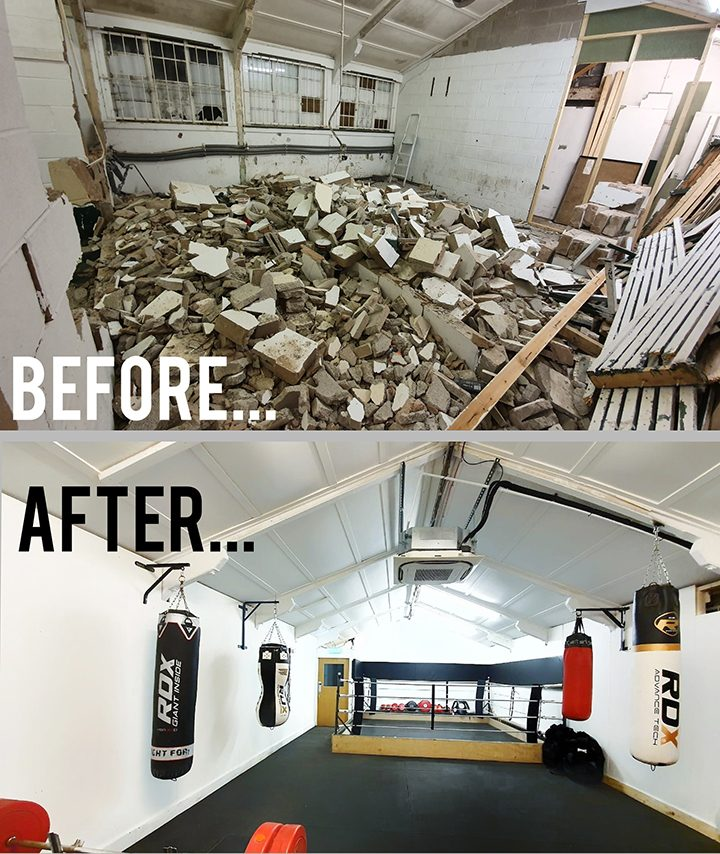 Before and after the renovations Pic: Penwortham Boxing Club