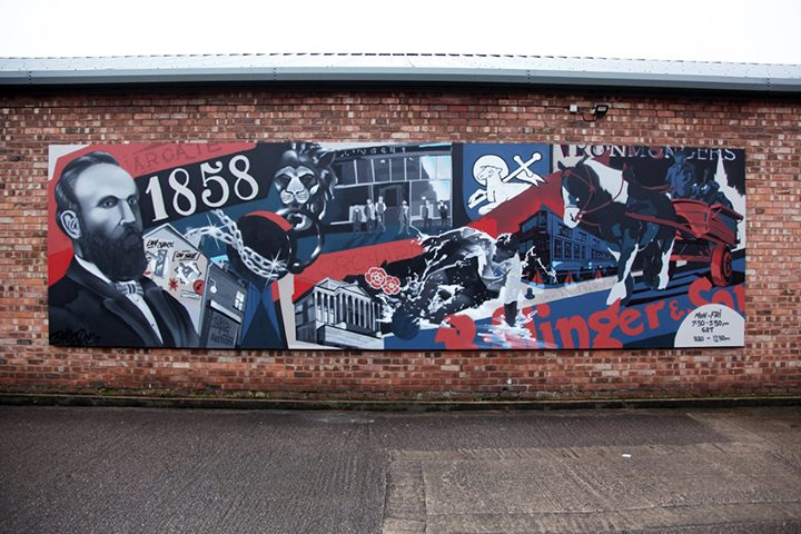 The finished mural at Slingers