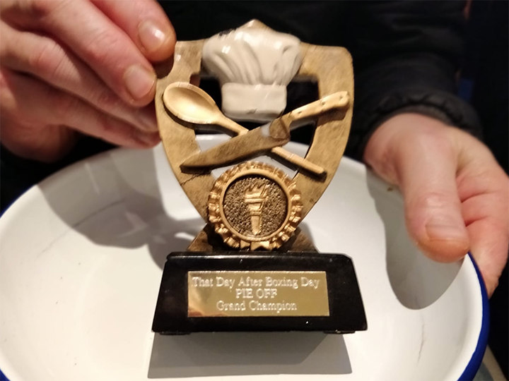 The most sought after pie-related trophy in Preston