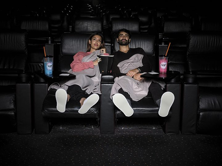 Cinema-goers in the Vue Cinema recliners