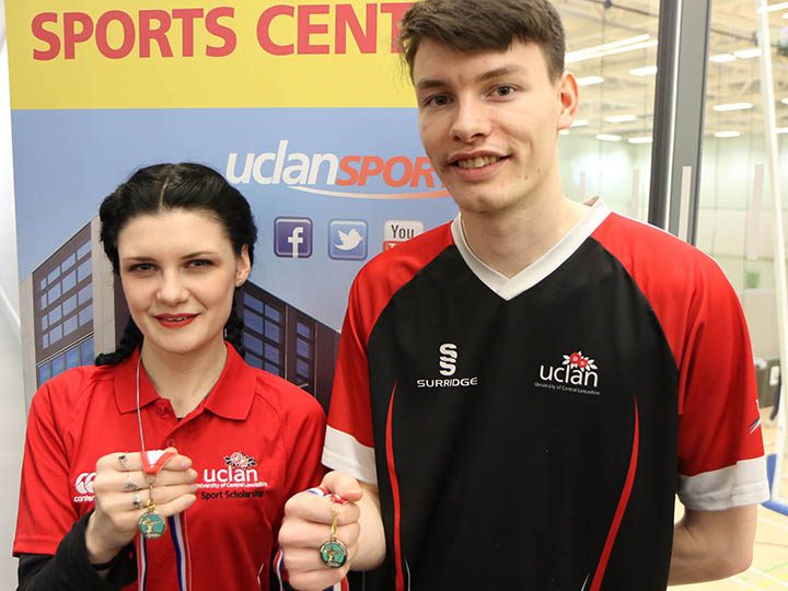 Amy and Daniel with their gold medals