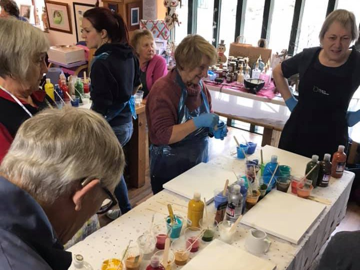 Kirkham and District Art Society members at a practical session