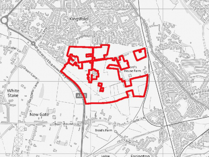 Map of Penwortham development