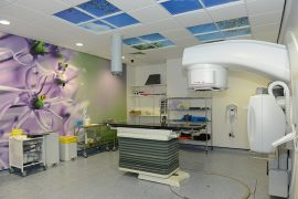 Inside a radiotherapy treatment room at Rosemere Cancer Centre