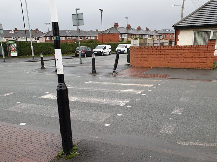 Zebra crossing in Deepdale with unclear markings
