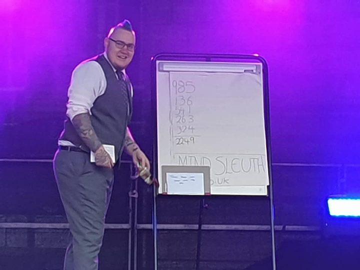 Simon on stage