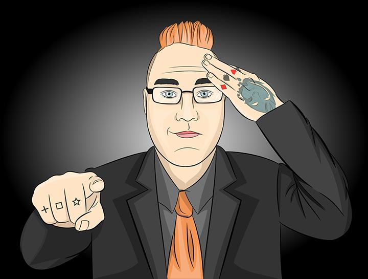 Cartoon depiction of Simon