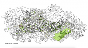 An indicative 3D vision plan from the Supplementary Planning Document