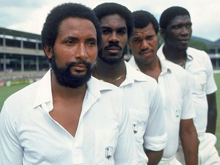 L-R: Andy Roberts, Michael Holding, Colin Croft and Joel Garner
