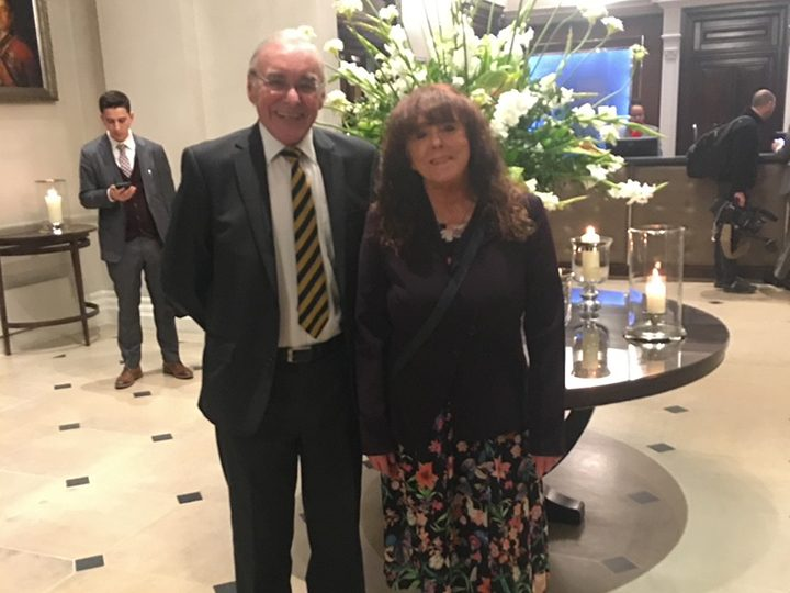 Bill and Denise at Mansion House, London