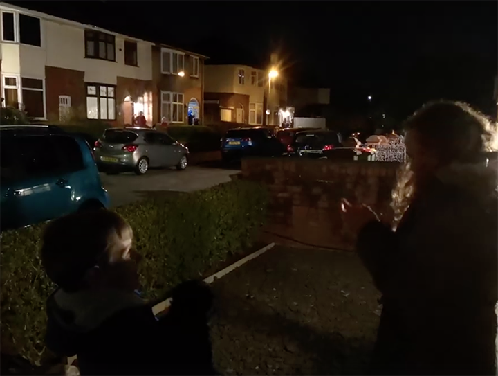Residents took to their doorsteps in Kilruddery Road