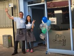 Owners Dave and Kathy outside the old premises in Cannon Street