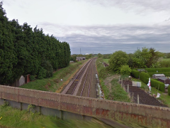 Fylde railway line viewed from Sidgreaves Lane Pic: Google Maps