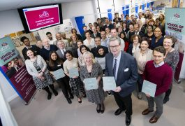 staff-and-students-from-uclan-school-of-medicine-celebrating-the-accreditation