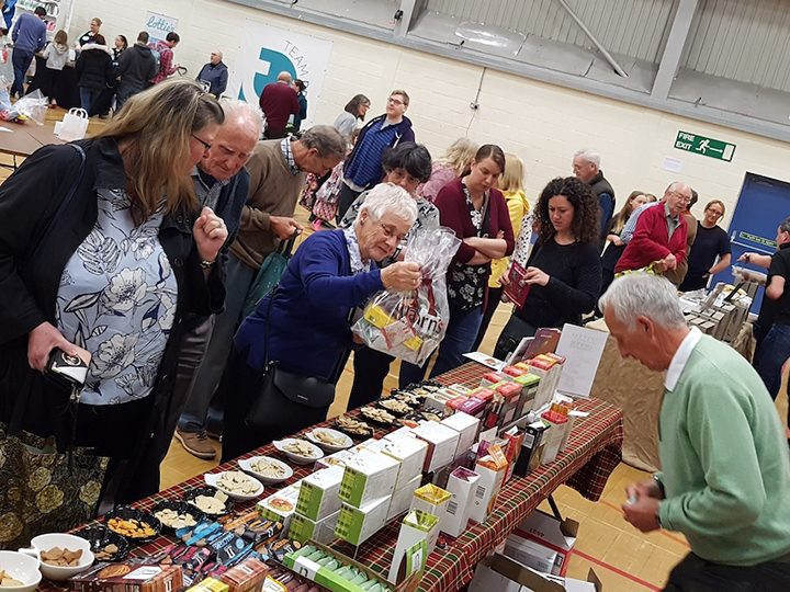 Attendees at the 2019 gluten free food fair at Preston's College