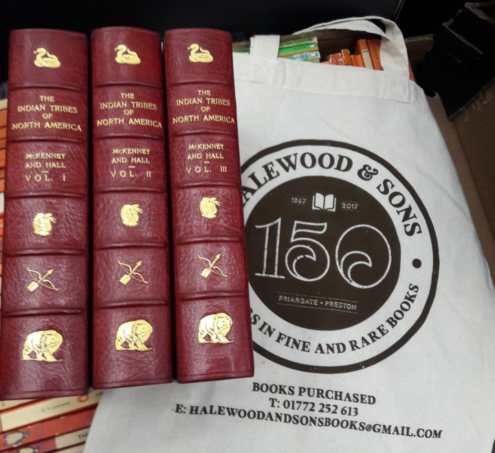 Halewood and Sons books and bag