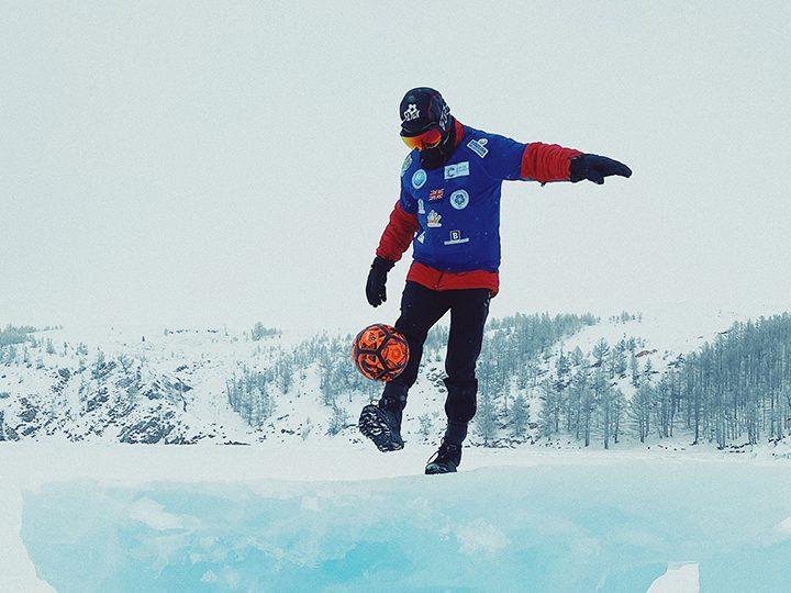 John Farnworth on his ice trek