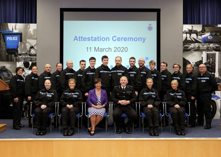 New enrollment of student police officers at their attestation ceremony