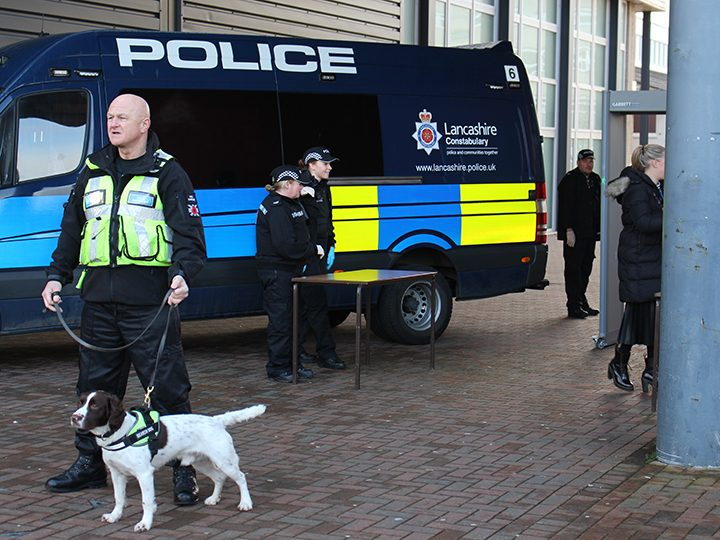 Police at the Preston's College awareness day