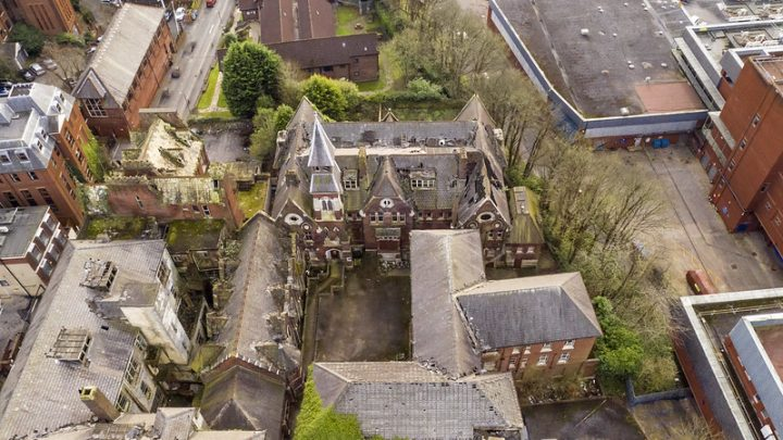Aerial shot shows the current condition of the St Joseph's Orphanage Pic: Stephen Melling