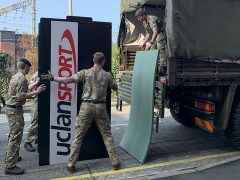 Army personnel at UCLan