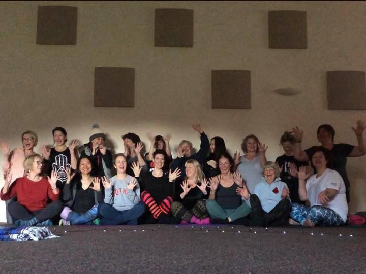 Emma (back row, fifth from the left) with attendees at a recent Mandala retreat